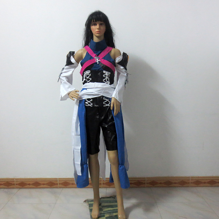 Kingdom Hearts Birth By Sleep Aqua Christmas Party Halloween Uniform Outfit Cosplay Costume Customize Any Size