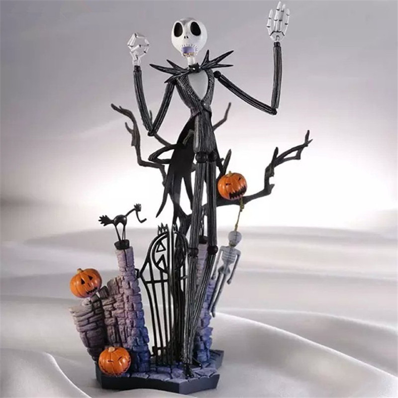 ФОТО 18.5cm PVC Jack Skellington Action Figure Toys,  Anime Brinquedos Jack Skellington Figure Collectible Models, Toys For Children