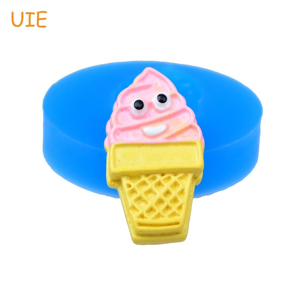 NºXYL194U 41.1mm lindo del cono de helado molde de silicona flexible ...