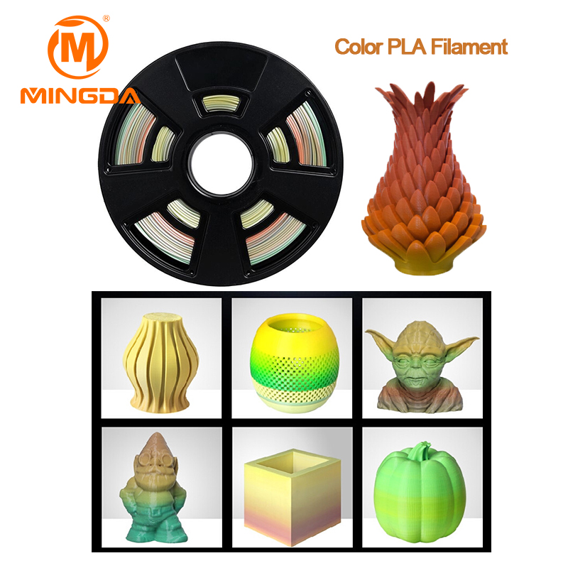 Colorfull Pla Filament For 3D Printer Good Color Filament 1Kg Pla Filament For 3D Printer Machine Pla-18 pla filament 3 00mm 1kg 2 2lbs white color for 3d printer plastic reprap wanhao makerbot free shipping