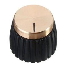 10X Guitarras AMP Amplificadores perillas Push-en negro + tapa de oro para Marshall Amplificadores