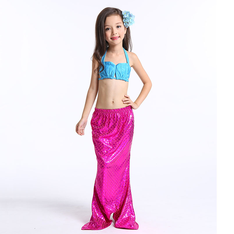 Mermaid Tail Swimming wear-rose blue 3