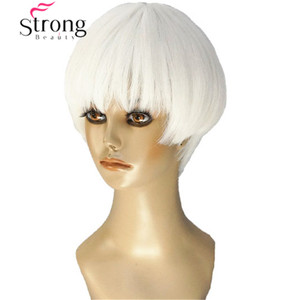 Image 1 - قوي الجمال قصيرة لينة بيضاء شعر مستعار أشقر الحرارة freindy الاصطناعية شعر مستعار كامل للنساء