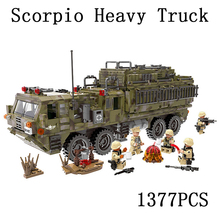 Legoed city Lepins World War Military Army Scorpio Heavy Truck Building Block Bricks Toys LegoINGLY Model kits gift for children(China)