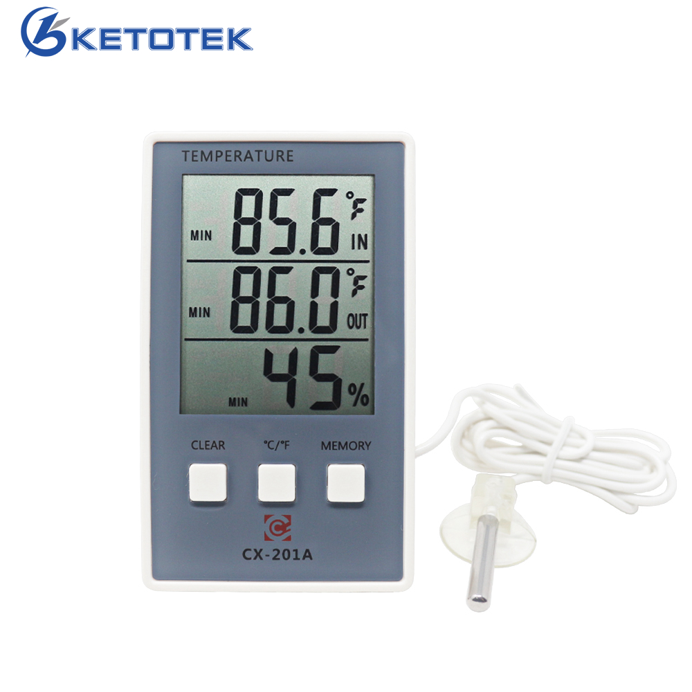 New LCD Digital Indoor Outdoor Thermometer Indoor Hygrometer Temperature Humidity Meter with temp sensor hot 57cm full body silicone reborn sweet girl baby doll toys newborn princess toddler babies doll birthday gift child bathe toy