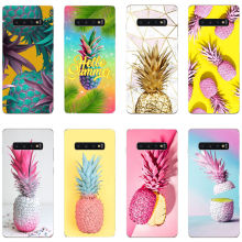 Pink Pineapple Golden Soft Silicone TPU Phone Cover Case for Samsung Galaxy S10E M10 M20 S6 S7 Edge S8 S9 S10 Plus