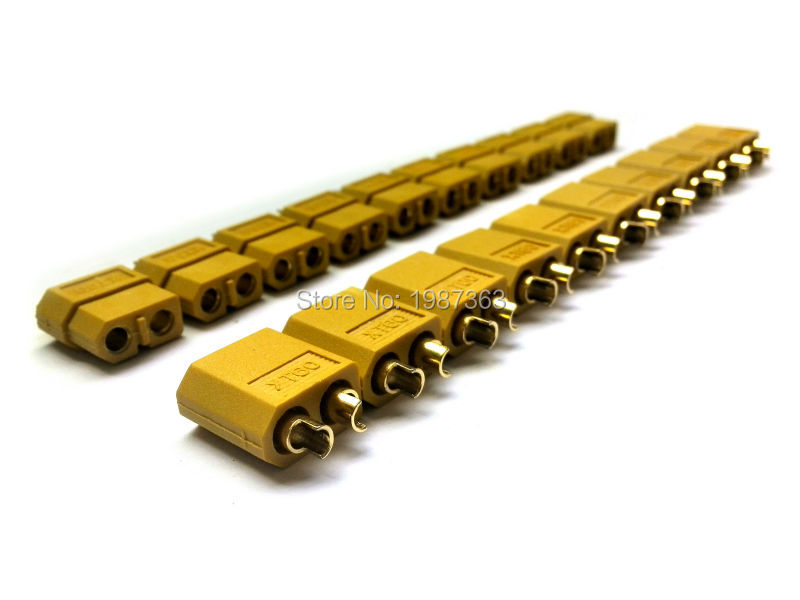 10 Pair /lot XT60 Bullet Connectors Plugs For RC Lipo Battery ESC Motor