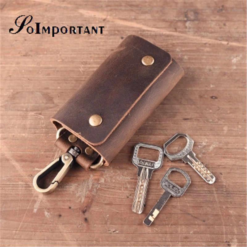 Prawdziwy skórzany portfel na klucze kobieta brelok organizer do kluczy dla gospodarza damskie etui na breloki etui na klucze etui damskie torebka
