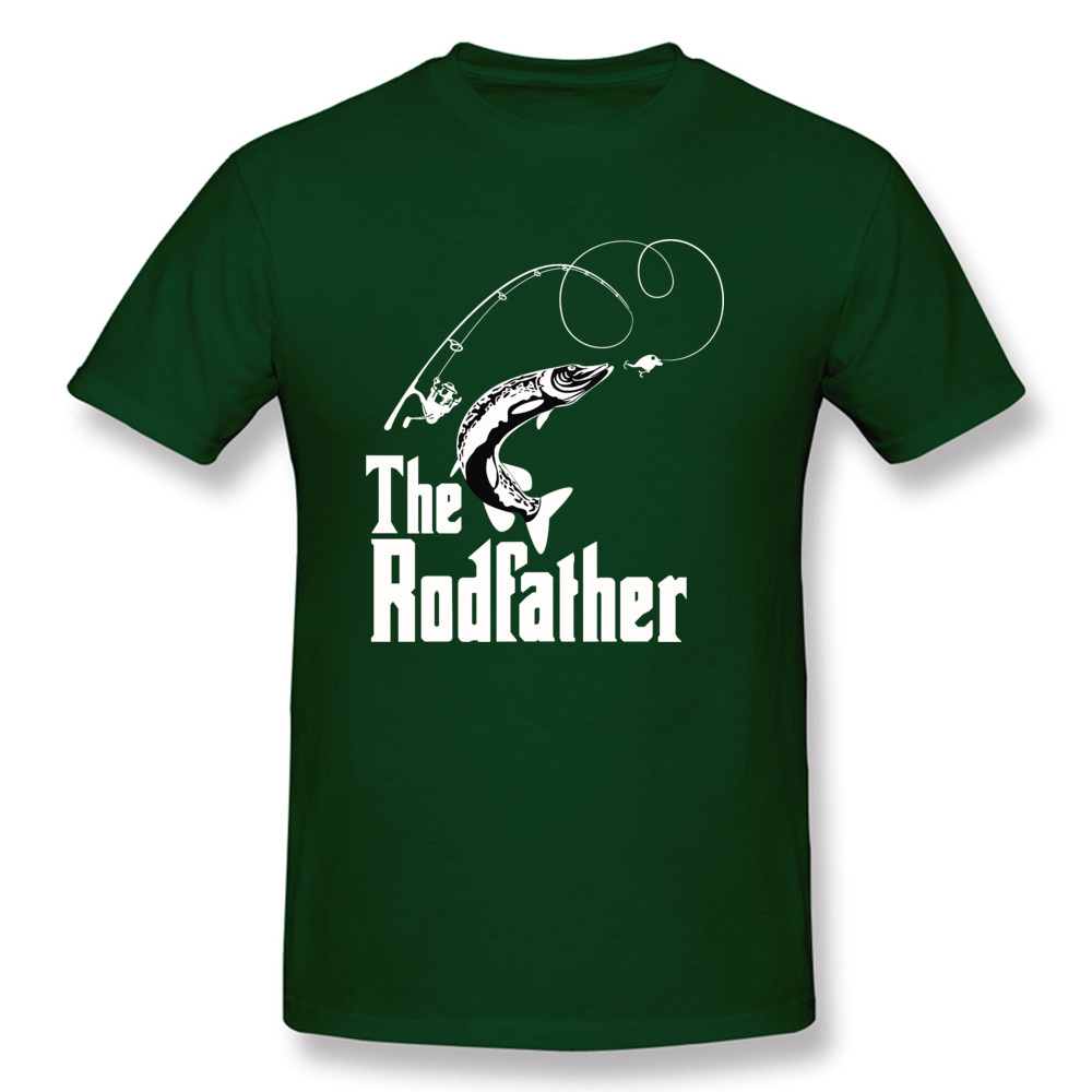 The-Rodfather Crewneck T-Shirt Lovers Day Tops Tees Short Sleeve Company 100% Cotton Design Tee-Shirts cosie Young The-Rodfather dark