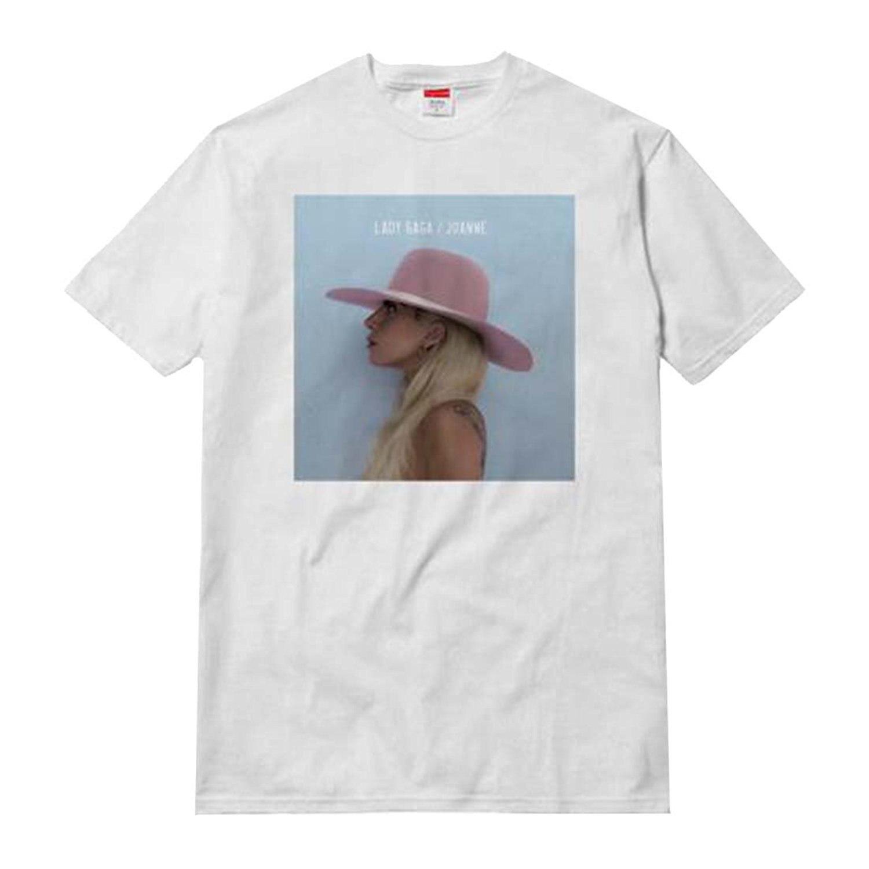 Summer 2018 Plus Size Design Lady Gaga Joanne Album Cover Adult T Shirt Crew Neck Short Sleeve Mens T Shirts