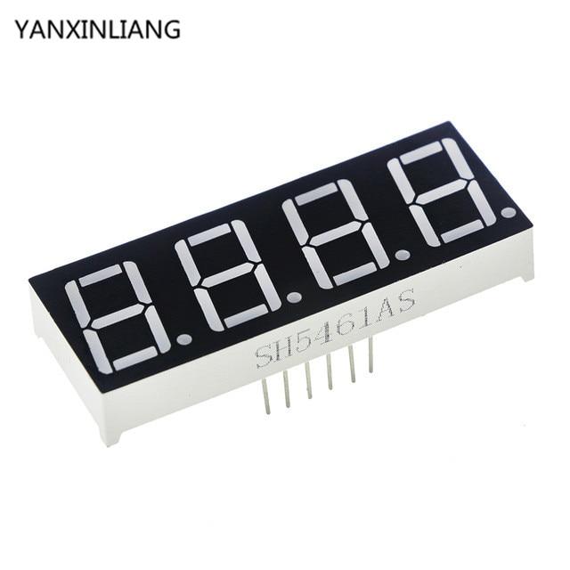 10 шт. общий катод 4bit 4 Бит Цифровой Tube 0.56 дюймов красный светодиод с часами Цифра 7 сегмента (часы)
