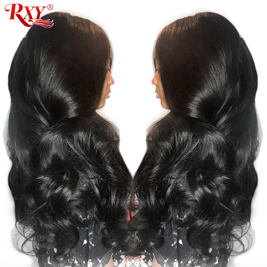 RXY Full Lace Wigs Human Hair With Baby Hair Brazilian Body Wave Pre Plucked Full Lace