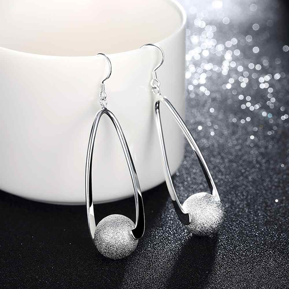Accessories New Design silver plated jewelry Female's long earrings Fashion brincos Earhook Ornaments Dangle earring