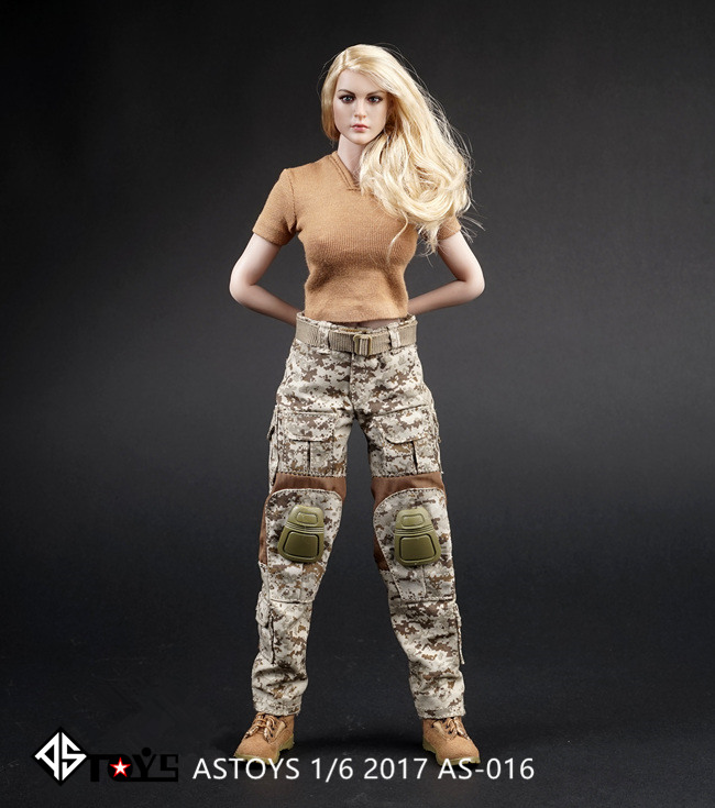 1: 6 ASTOYS AS016 Navy SEAL Desert Digital Camouflage Women's War Pants for 12Collectible Figure Doll Toys Accessories