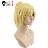 HSIU High Quality Anime Game Fate/Apocrypha Mordred Cosplay Wig Costume Play Woman Adult Wigs Halloween Synthetic Hair