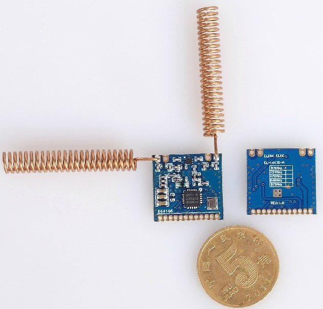 US $51 0  2pcs/lot SI4463 wireless module double antenna long distance  3200m SPI interface 470MHz/434MHz -in Other Electronic Components from