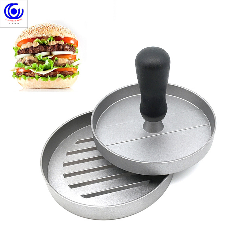 12cm Hamburg Meat Presser Portable Meatloaf Mold DIY Round Hamburger Beef Grill Non Stick Press Patty Maker Cooking Tools Gadget image