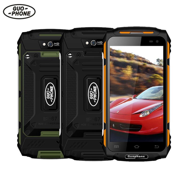 Guophone X2 4G Smartphone Android 6.0 MT6737 Quad Core 5.0HD IP67 Waterproof shockproof Phone 2GB 16GB 8MP 5500mAh superbattery