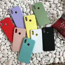 10pcs/lot Liquid Silicone Case For Xiaomi 9 9se 8 6X A2 Lite For Redmi Note 7 6 K20 Pro Silky Gel Rubber Soft Touch Cover