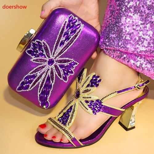 Zapato Doershow Bolsos oro Africanos Azul rojo púrpura 2018 Juego A Zapatos Caliente 4 Sellig Italiano Con Italianos Bolso Y Js1 Diseño Conjunto qXfrWAXzwx