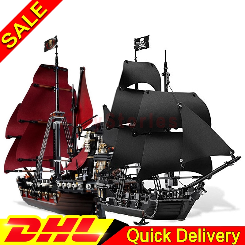 LEPIN Pirates 16006 Black Pearl 16009 Caribbean Queen Anne's Reveage Model Building Kits Blocks Bricks legoings Toys 4184 4195 2017 new toy 16009 1151pcs pirates of the caribbean queen anne s reveage model building kit blocks brick toys