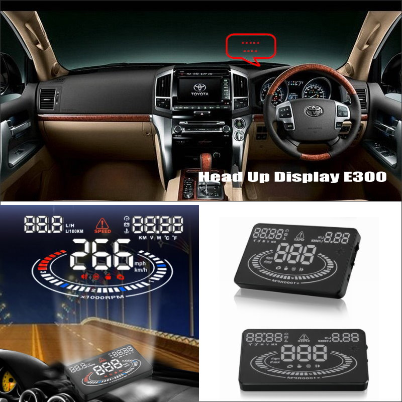 цена на Car HUD Head Up Display FOR Toyota Land Cruiser LC 100 120 200 - Safe Driving Screen Projector Inforamtion Refkecting Windshield