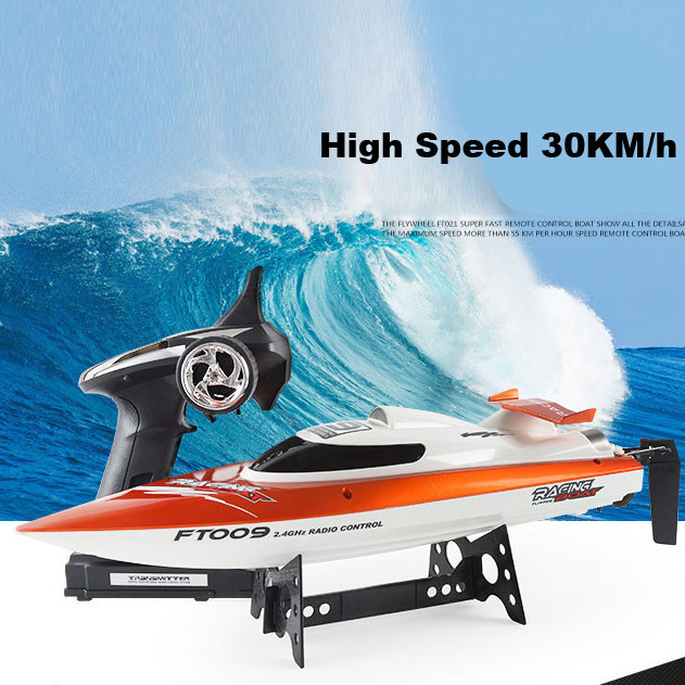 Hot Feilun FT009 2.4GHz 4 Channel Water Cooling High Speed Racing RC Boat Gift 2017 NEW Factory Price