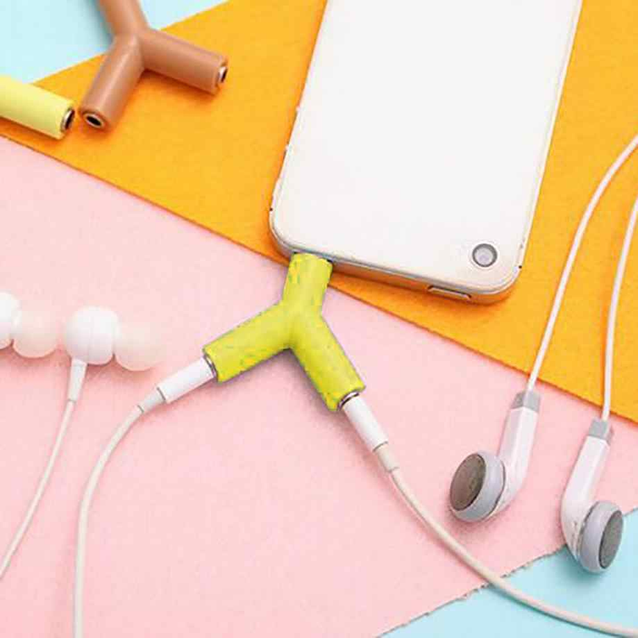 Audio Splitter Y Jack Male to 2 Female M/F 3.5mm Stereo Earphone Music Sound Cell Phone Adapter Accessories for usb micro cable