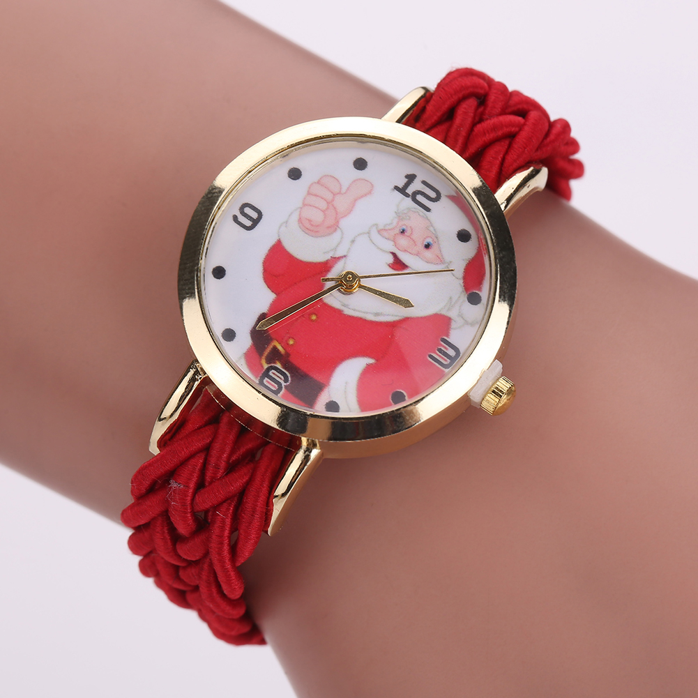New Fashion Santa Claus Watches Gold Dial Ladies Gilrs ...