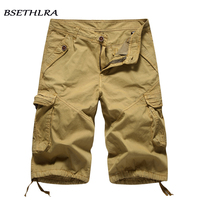 BSETHLRA 2018 New Shorts Men Summer Casual Style Solid Cargo Shorts Men Cotton Quality Soft Material