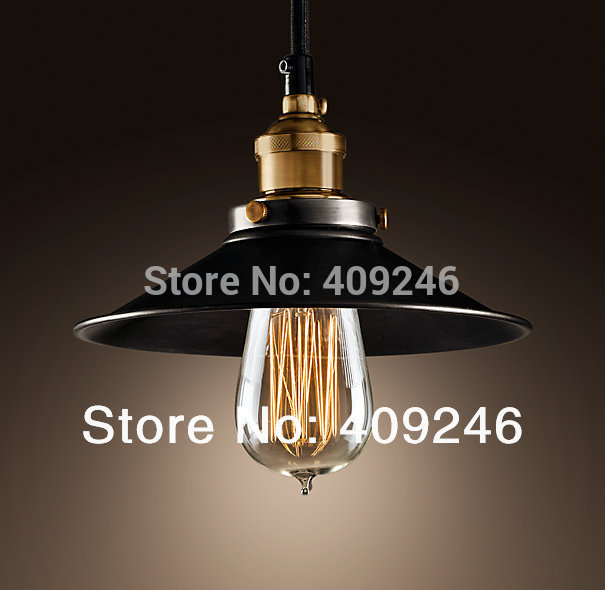 Vintage Loft Industrial Edison Mini Metal Pendant Light 1 Light 22CM Pendant Lamp For Cafe Bar Shop Home Store Club Black Decor rh loft edison industrial vintage style 1 light tea glass pendant ceiling lamp hotel hallway store club cafe beside
