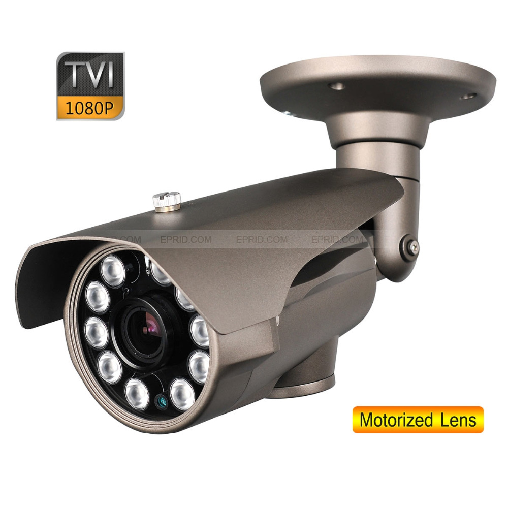 HD-TVI 1080P 2.0MP 10PCs Super-LED 2.8-12mm Motorized Lens Camera OSD Board 1080p 2 0mp 2 8 12mm motorized lens security hd tvi bullet camera osd board 84 ir