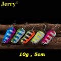 Jerry 5 piezas 10g de alta calidad de color pike musky cucharas trolling señuelos agua dulce cebo