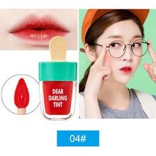 NOVO Cute Ice Cream Lip Tint Makeup Red Liquid Matte Lipstick Pigment Nude Lasti