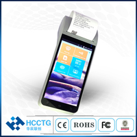 4G 3G NFC Smart Mobile Payment Handheld Android POS Device With Printer HCC Z91