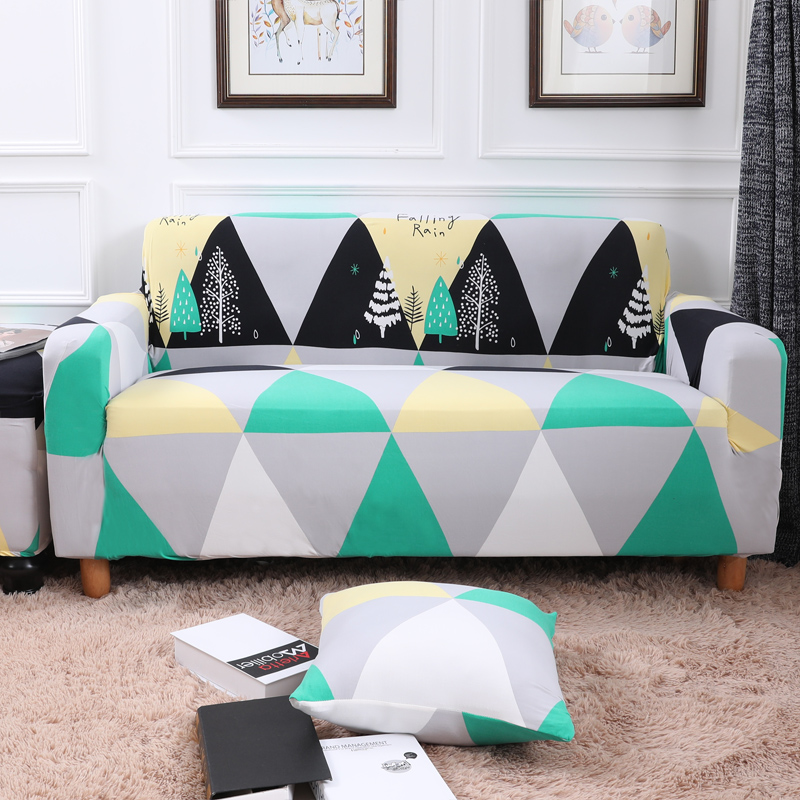 Modern Geometry Pattern Elastic Couch/Corner Sofa Slipcovers For Living Room Universal Stretch Furniture Covers Anti-dirty Cover
