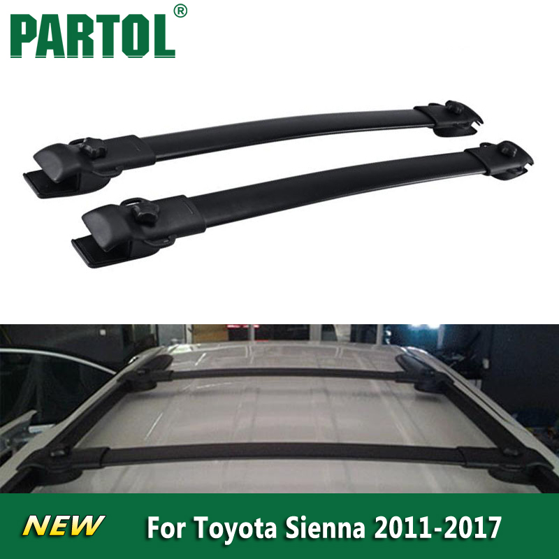 Partol Black Car Roof Rack Cross Bars Roof Luggage Carrier Roof Rail For  Toyota Sienna 2011 2012 2013 2015 2016 2017 150lbs/68kg In Roof Racks U0026  Boxes From ...