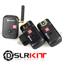DSLRKIT PT 08XTH 8 Channels Flash Trigger with Umbrella Holder with 2 Receivers