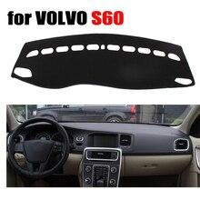 Fuwayda приборной панели автомобиля охватывает мат для Volvo S60 2010-2015 левым dashmat Pad Даш крышка авто приборной панели аксессуары