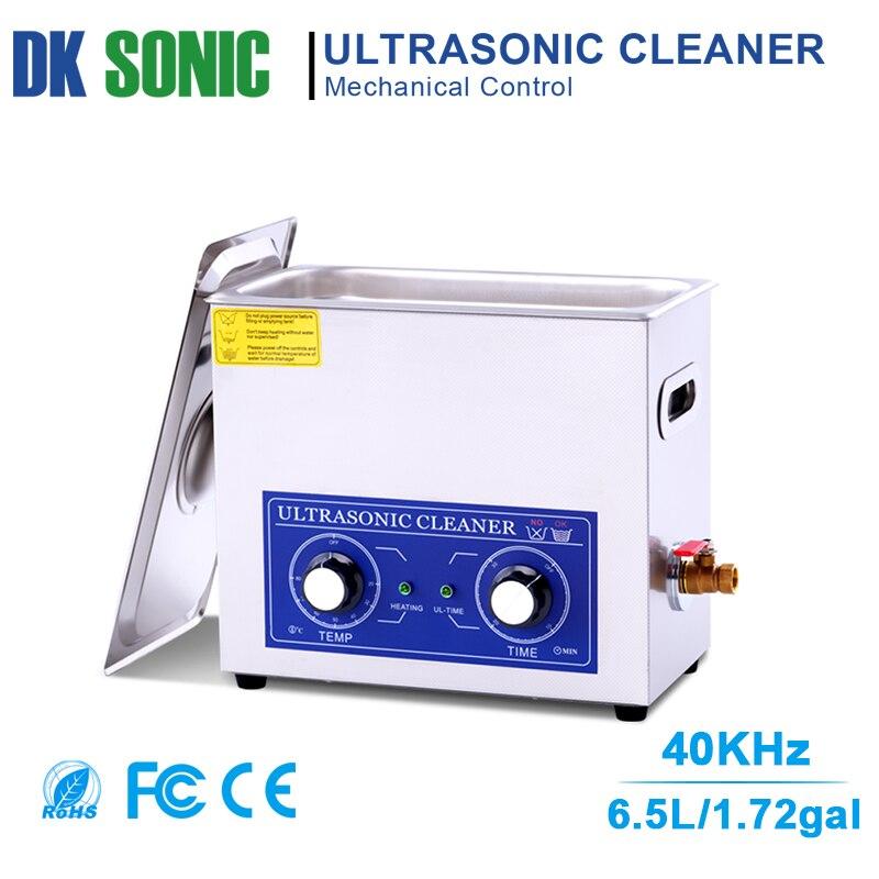 6.5L 180 w Limpeza Ultra-sônica Aquecedor Controle de Botão Do Temporizador Banho de Ultra Som para Peças de Motor de Moto/Auto peças Injector De Combustível registro