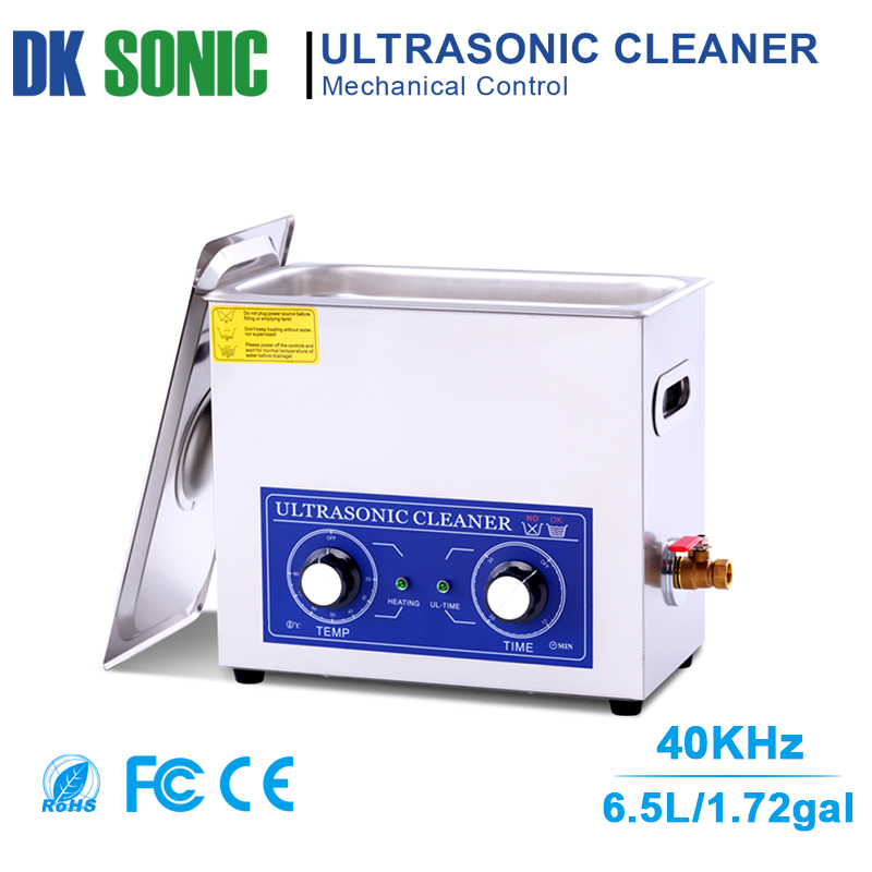 6 5L 180W Ultrasonic Cleaner Heater Timer Knob Control Ultrasound Bath for Engine Parts Moto Auto