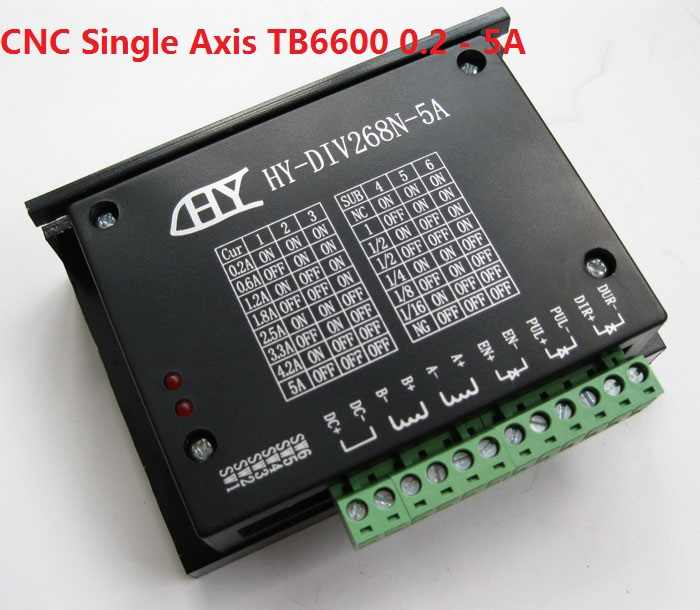 CNC Single Axis TB6600 Twee Fase Hybride Stappenmotor Driver Controller