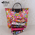 Reusable Shopping Tote Bag Women Waterproof Travel Recycle Bag Fold-able to Save Space free shipping