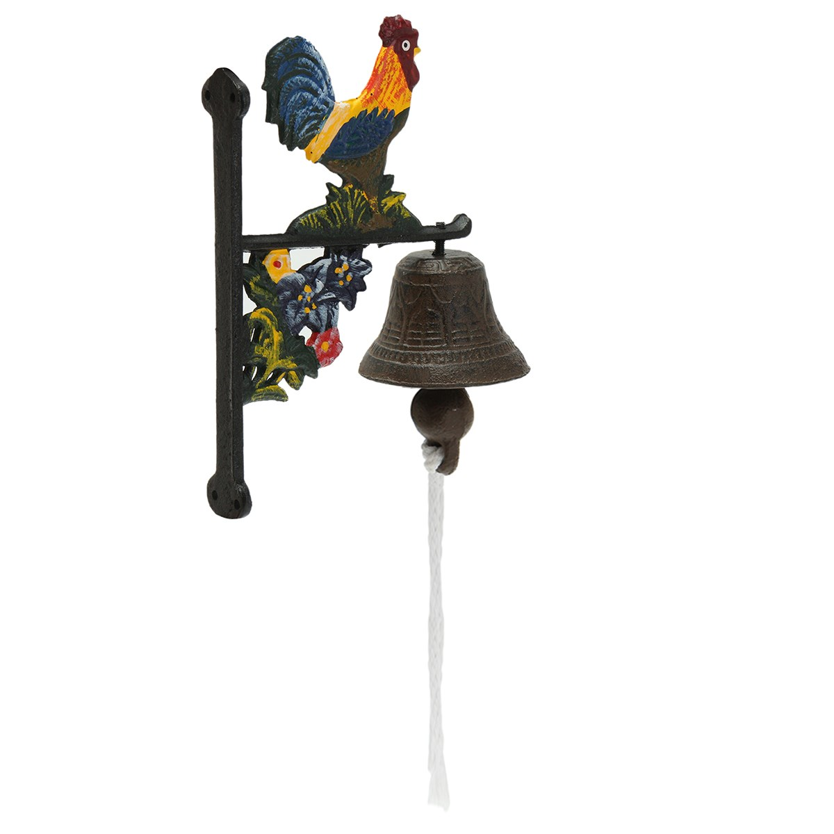 Door-Bell Access-Control Wall-Mounted Garden-Decor Cast-Iron Rooster Home Metal Vintage-Style title=