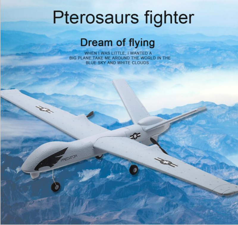 Sport Hobby America Predator RC Airplane Plane 150M 66CM DIY Assembly Foam RC Glider Aircraft Model Toy Add LED Light PK HL803 image