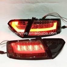 Para Audi A5 2007-2009 luz trasera LED luz trasera SN Humo