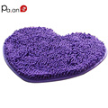 New Heart shape plush chenille mats super water absorption Anti-Slip livingroom bathroom Lovely home floor mats high quality