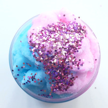 60ML Crystal dynamic Sand Cotton fluffy Slime toys Mud Hand Pulled DIY Plasticine magnet light clay