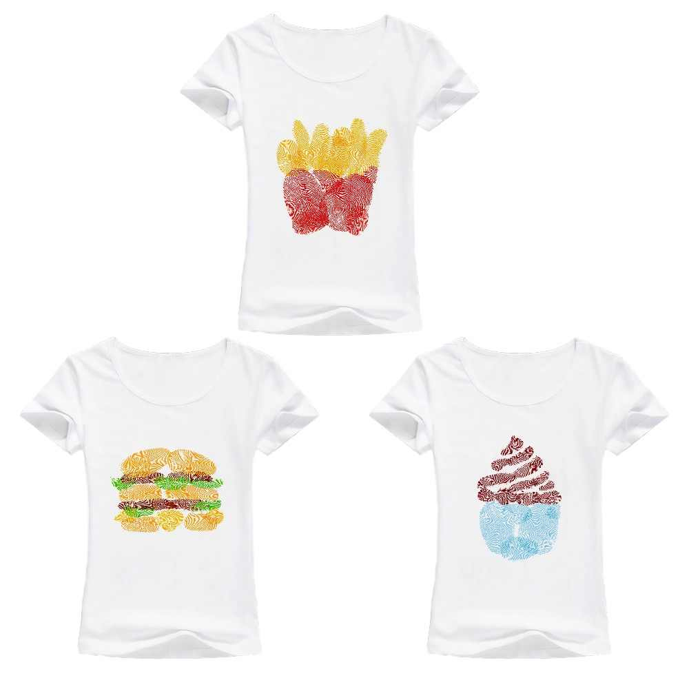 Hamburger chips ice cream best friends 3 t shirt women new Tees shirt femme  casual tshirt 40ece0ba4