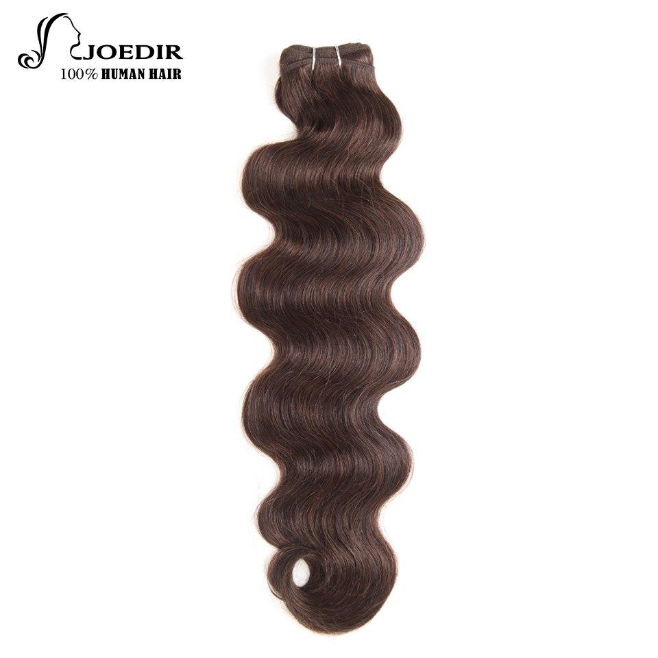 Joedir Brazilian Body Wave 113g Human Hair Bundles Color 2# Remy Remy Hair Extensions Free Shipping